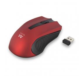 Rato Ewent EW3227 Wireless 1000DPI Vermelho