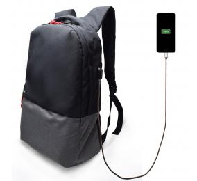 "Mochila Ewent EW2529 Urban Notebook Backpack 17.3"" Preta c/ Outlet USB"