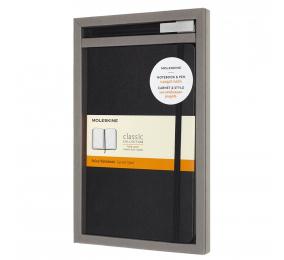 Bundle Moleskine - Caderno Grande Pautado Moleskine Clássico Preto + Caneta Roller