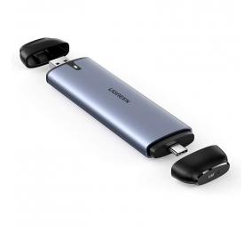 Caixa Externa M.2 UGREEN CM298 2 in 1 USB-A & USB C 3.1 Gen 2 para SATA B+M/B-Key 6Gbps