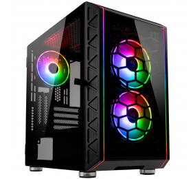 Caixa Micro-ATX Kolink Citadel Glass SE ARGB Tempered Glass Preta