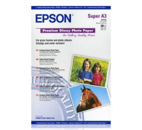 Papel Epson Photo Premium Glossi A3+ 250g/m² 20 Folhas