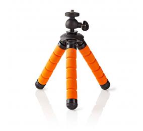 Mini Tripé Nedis Flexível 13 Cm até 0.5 Kg Preto Laranja