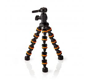 Mini Tripé Nedis Articulado Flexível 26 Cm até 1 Kg Preto Laranja
