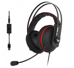 Headset Asus TUF Gaming H7 7.1 PC/PS4/Xbox One/Nintendo Switch Preto/Vermelho
