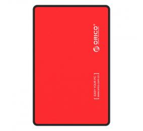 "Caixa Externa 2.5"" Orico 2588US3-V1 SATA I/II/III para USB 3.0 Micro-B Vermelha"
