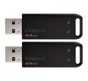 Pen Drive Kingston DataTraveler 20 (DT20) 64GB USB 2.0 Preta (Kit 2 Unidades)