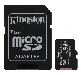 Cartão Memória Kingston Canvas Select Plus C10 A1 UHS-I microSDXC 128GB + Adaptador SD