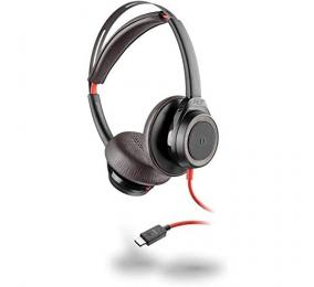 Headset Plantronics Poly Blackwire 7225 Preto USB-C