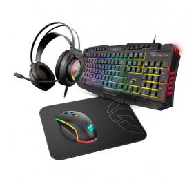 Teclado + Rato + Headset + Tapete Krom Kritic RGB Rainbow Gaming