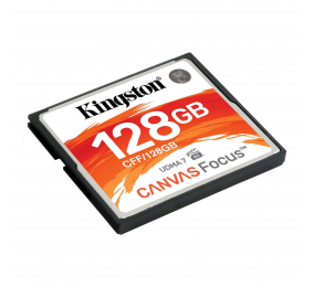 Cartão Memória Kingston Canvas Focus UDMA7 VPG-65 CompactFlash 128GB