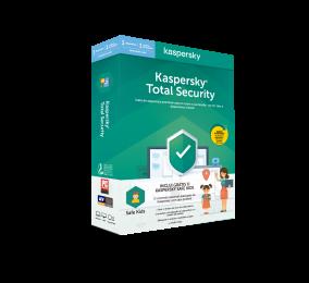 Software Kaspersky Total Security 2020 + Safe Kids 1 Utilizador 1 Ano