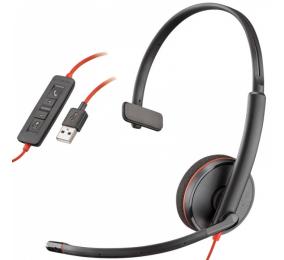Headset Plantronics Poly Blackwire C3210 USB-A