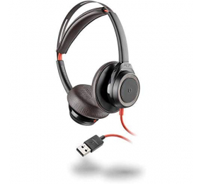 Headset Plantronics Poly Blackwire 7225 Preto USB-A