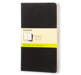 Caderno Cahier de Bolso Liso Moleskine Preto - Conjunto de 3 Cadernos
