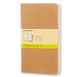 Caderno Cahier Grande Liso Moleskine Kraft - Conjunto de 3 Cadernos