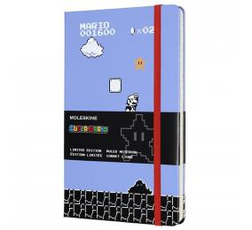 Caderno Grande Pautado Moleskine Super Mário Game