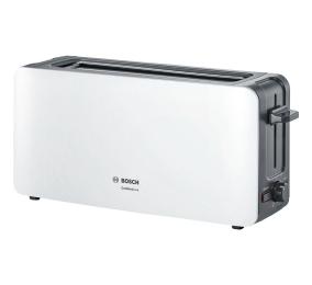 Torradeira Bosch Long Slot Toaster ComfortLine TAT6A001 1090W Branca