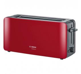 Torradeira Bosch Long Slot Toaster ComfortLine TAT6A004 1090W Vermelha