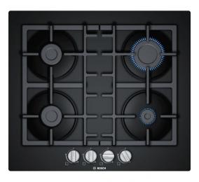 Placa a Gás Bosch Serie | 4 PNP6B6B90 60cm Vidro Duro Preta