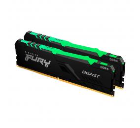 Memória RAM Kingston Fury Beast RGB 32GB (2x16GB) DDR4-3600MHz 1R CL18 Preta