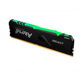 Memória RAM Kingston Fury Beast RGB 16GB (1x16GB) DDR4-3600MHz 1R CL18 Preta