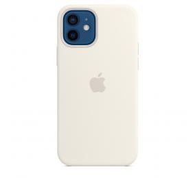 Capa Silicone Apple iPhone 12 | iPhone 12 Pro MagSafe Branca
