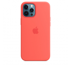 Capa Silicone Apple iPhone 12 Pro Max MagSafe Rosa Cítrico