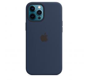 Capa Silicone Apple iPhone 12 Pro Max MagSafe Azul Profundo