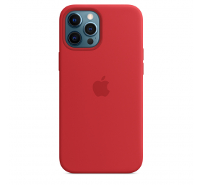 Capa Silicone Apple iPhone 12 Pro Max MagSafe (PRODUCT)RED