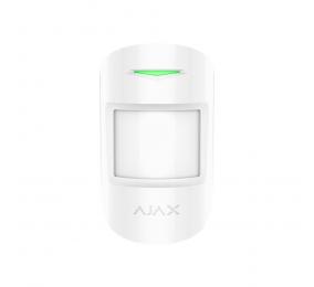 Detector Pir Ajax CombiProtect c/ Quebra de Vidros e Sensor de Temperatura Branco