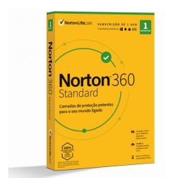 Norton 360 Standard Cloud 10GB 1 Utilizador 1 Dispositivo 1 Ano