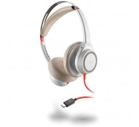 Headset Plantronics Poly Blackwire 7225 Branco USB-C