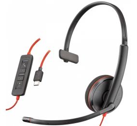 Headset Plantronics Poly Blackwire C3210 USB-C