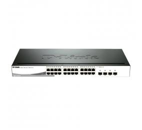 Switch DLink Gigabit 24 Portas 10/100/1000Mbps 4 Combo 1000Base-T / SFP