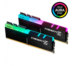 Memória RAM G.SKILL Trident Z RGB 16GB (2x8GB) DDR4-4000MHz CL16 Preta