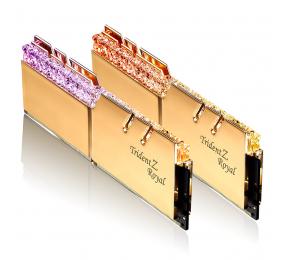 Memória RAM G.SKILL Trident Z Royal RGB 16GB (2x8GB) DDR4-4000MHz CL15 Dourada