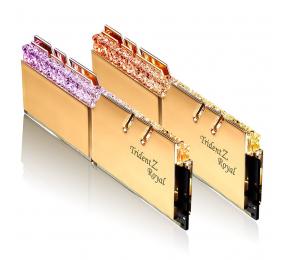 Memória RAM G.SKILL Trident Z Royal RGB 16GB (2x8GB) DDR4-4000MHz CL18 Dourada