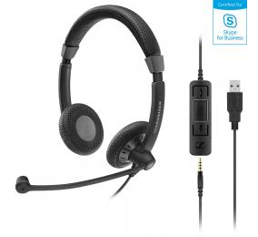 Headset Sennheiser SC 75 USB MS Preto