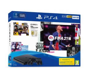 Consola Sony PlayStation 4 Slim 500GB + FIFA 21 + 2 Comandos