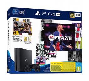 Consola Sony PlayStation 4 Pro 1TB + FIFA 21 + 2 Comandos