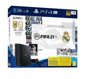 Consola Sony PlayStation 4 Pro 1TB + FIFA 21 (Edição Real Madrid)