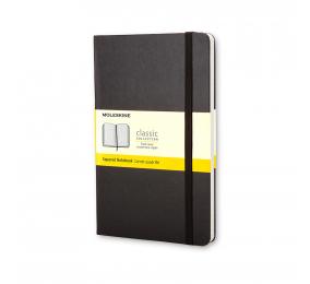 Caderno Grande Quadriculado Moleskine Clássico Preto