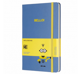 Caderno Grande Pautado Moleskine Minion Azul