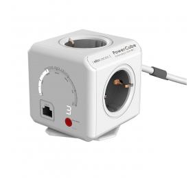 Régua Allocacoc PowerCube 4 Tomadas Extended WiFi 16A Cinza
