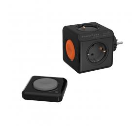 Régua Allocacoc PowerCube 4 Tomadas Remote 16A Preto/Laranja