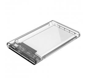 """Caixa Externa 2.5"""" Orico 2139C3 SATA I/II/III para USB 3.1 Type-C Transparente"""