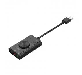 Placa de Som Externa Orico SC2 USB 2.0 Preta