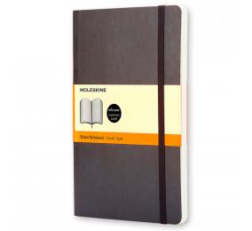 Caderno Grande Pautado Moleskine Soft Preto