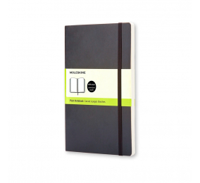 Caderno Grande Liso Moleskine Soft Preto